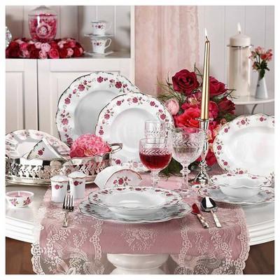 Kütahya Porselen Nil 12 Kişilik 83 Parça 8554 Desen Yemek Takımı