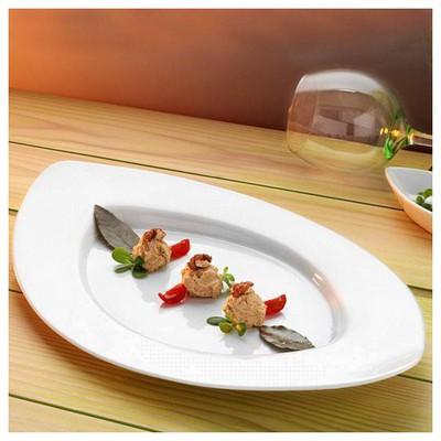 Kütahya Porselen Optik Yanaklı Servis Tabağı Küçük Mutfak Gereçleri