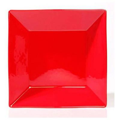 Naturaceram Kütahya Porselen Pera Kırmızı Çukur Tabak