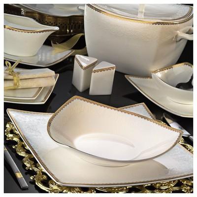 Kütahya Porselen Phaselis 83 Parça 65121 Desenli Yemek Takımı