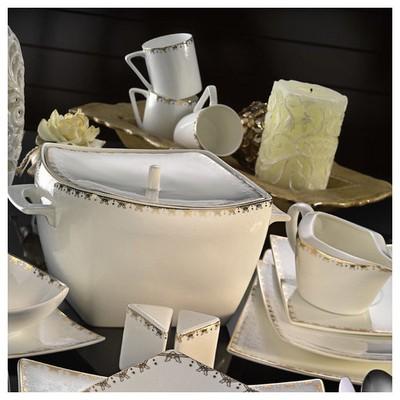 Kütahya Porselen Phaselis 83 Parça 65123 Desenli Yemek Takımı