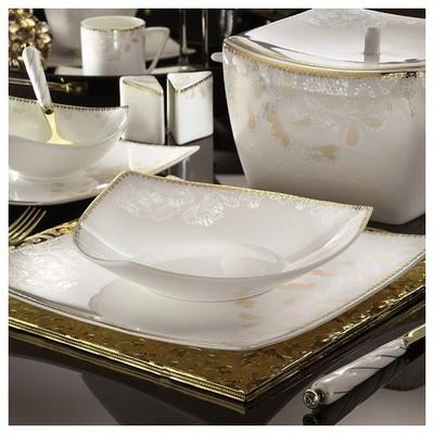 Kütahya Porselen Phaselis 83 Parça 65124 Desenli Yemek Takımı Tabak