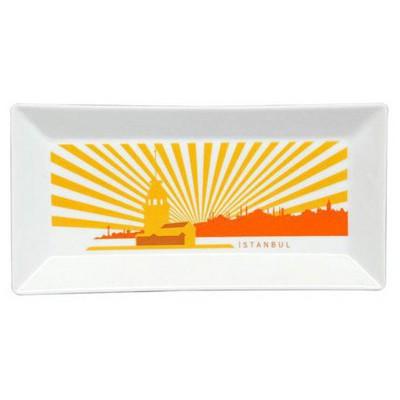 Kütahya Porselen Perge 25397 Dekor 24 Cm Istanbul Tabak