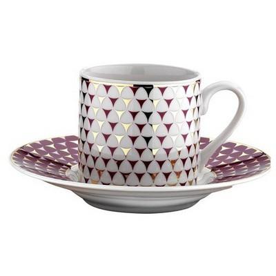 Kütahya Porselen Rüya 77512 Desen Kahve Fincan Takımı Kahvaltı Takımı