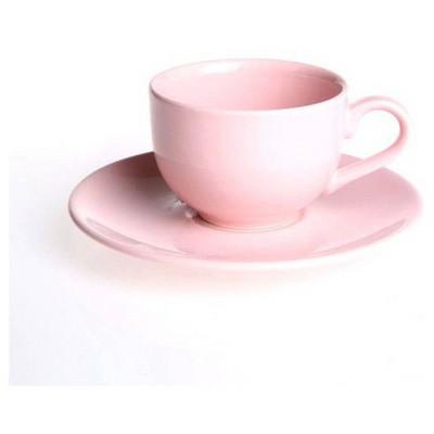 Naturaceram Natura Ceram Selen Pembe Çay Fincanı Tabaklı Çay Seti