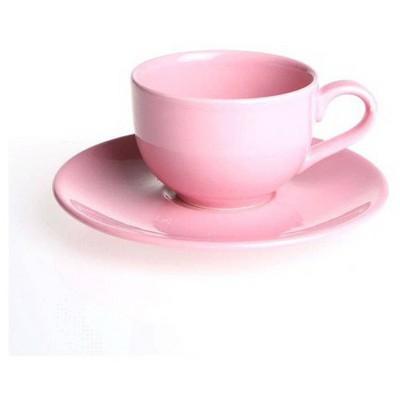 Naturaceram Natura Ceram Selen Açık Pembe Çay Fincanı Tabaklı Çay Seti
