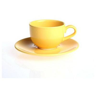 Naturaceram Natura Ceram Selen Sarı Çay Fincanı Tabaklı Çay Seti