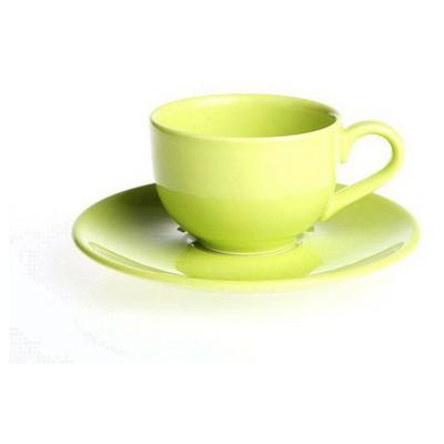 Naturaceram Selen Yeşil Çay Fincanı Tabaklı Çay Seti