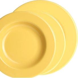 Naturaceram Kütahya Porselen Selen 6 Kişilik 18 Parça Sarı Yemek Seti Yemek Takımı