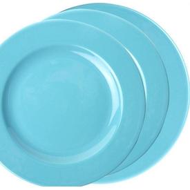 Naturaceram Kütahya Porselen Selen 6 Kişilik 18 Parça Turkuaz Yemek Seti Yemek Takımı