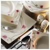 Kütahya Porselen Square Bone 84 Parça 65104 Desenli Yemek Takımı