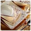 Kütahya Porselen Square Bone 84 Parça 65106 Desenli Yemek Takımı