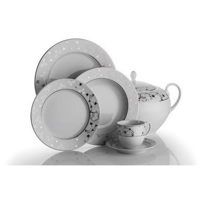 Kütahya Porselen Stella 2381 Desen Yemek Takımı Tabak