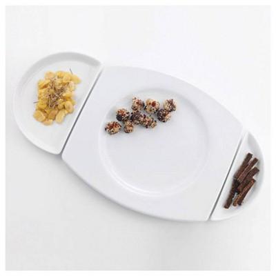 Kütahya Porselen Tavola Serisi 3 Parça Puzzle Tabak Takımı Yemek Takımı