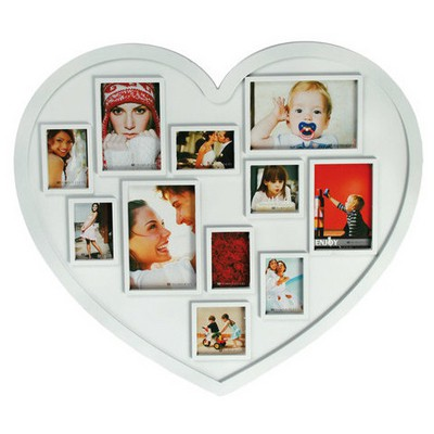 Kütahya Porselen Beyaz Kalp Plastik Fotoğraflık Ev Gereci