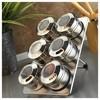 Kütahya Porselen Magnetli Standlı 6'lı Baharatlık Seti Sofra Gereçleri