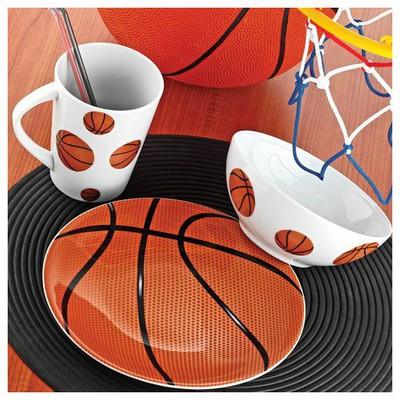 Kütahya Porselen Team Game Basketball Tek Kişilik Yemek Seti Yemek Takımı
