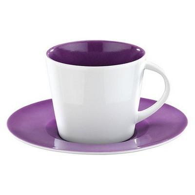 Kütahya Porselen Toledo 6 Kişilik Mor Renk Çay Takımı Çay Seti