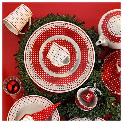 Kütahya Porselen Toledo 12 Parça 7352 Desen Çay Takımı Çay Seti
