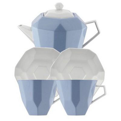 Kütahya Porselen 6 Parça  Mavi Çay Seti