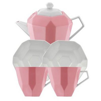 Kütahya Porselen 6 Parça  Pembe Çay Seti