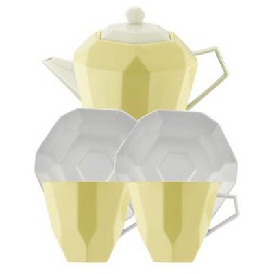 Kütahya Porselen 6 Parça  Sarı Çay Seti