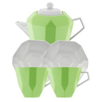 Kütahya Porselen 6 Parça  Yeşil Çay Seti