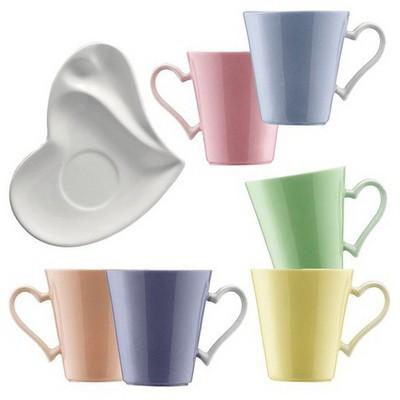 Kütahya Porselen 12 Parça Kalpli Kahve Takımı Çay Seti