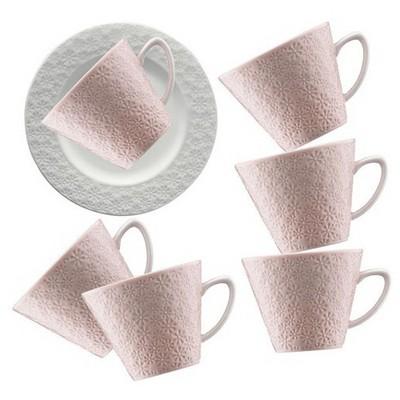 Kütahya Porselen 12 Parça Kahve Takımı Somon Çay Seti