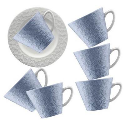 Kütahya Porselen 12 Parça Kahve Takımı Mavi Çay Seti