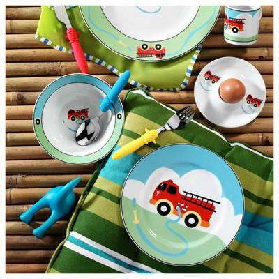 Kütahya Porselen Arabalı Tek Kişilik 5 Parça Mama Takımı Yemek Takımı