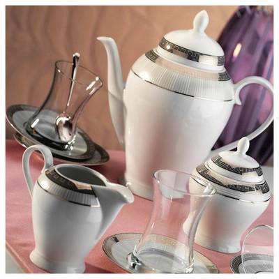 Kütahya Porselen 29 Parça 10129 Desen Çay Takımı Çay Seti