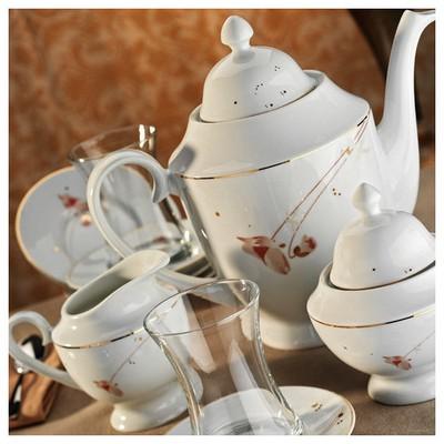 Kütahya Porselen 29 Parça 10131 Desen Çay Takımı Çay Seti