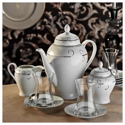Kütahya Porselen 29 Parça 10133 Desen Çay Takımı Çay Seti