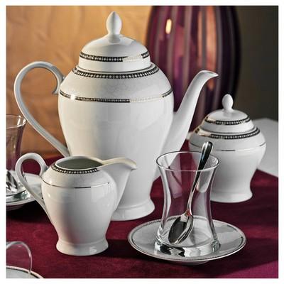 Kütahya Porselen 29 Parça 10134 Desen Çay Takımı Çay Seti