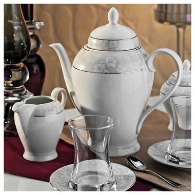 Kütahya Porselen 29 Parça 10136 Desen Çay Takımı Çay Seti