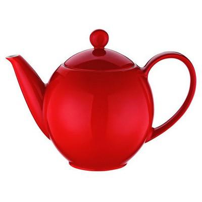 Kütahya Porselen Zeugma Kahvedanlık Kırmızı Çaydanlık & Cezve