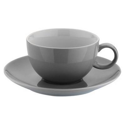 Kütahya Porselen 12 Parça Çay Takımı Gri Çay Seti