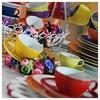 Kütahya Porselen 12 Parça Çay Takımı Kırmızı Çay Seti