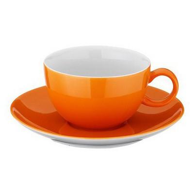 Kütahya Porselen 12 Parça Çay Takımı Turuncu Çay Seti