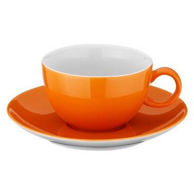 Kütahya Porselen 12 Parça Kahve Takımı Turuncu Çay Seti
