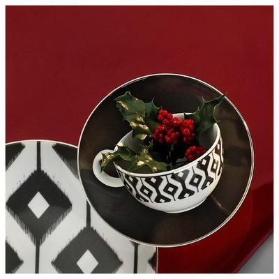 Kütahya Porselen 12 Parça Kahve Takımı Siyah Çay Seti