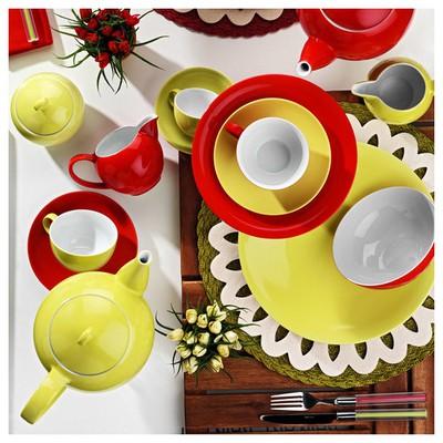 Kütahya Porselen Zeugma Servis Tabağı Fıstık Yeşili Küçük Mutfak Gereçleri