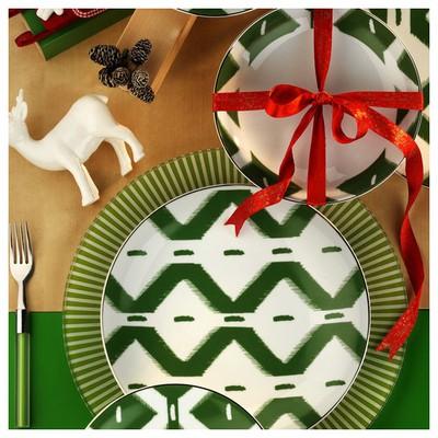 Kütahya Porselen Zeugma Servis Tabağı Yeşil Servis Gereçleri