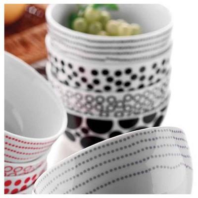 Kütahya Porselen Siyah 4 Parça Çerez Set Tabak