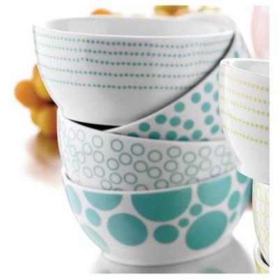 Kütahya Porselen Turkuaz Kişilik 4 Parça Çerez Set