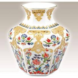 Kütahya Porselen Vazo No 16 El Yapımı