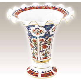 Kütahya Porselen Vazo No 25 El Yapımı