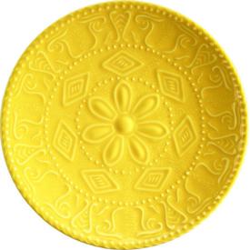 Naturaceram Sun Flower Pasta Tabağı Sarı Pasta Takımı
