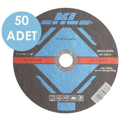 KL Klt180 50 Adet 180x22.2 Mm Metal Kesme Diski Düz Makine Aksesuarı